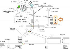 増穂農場地図